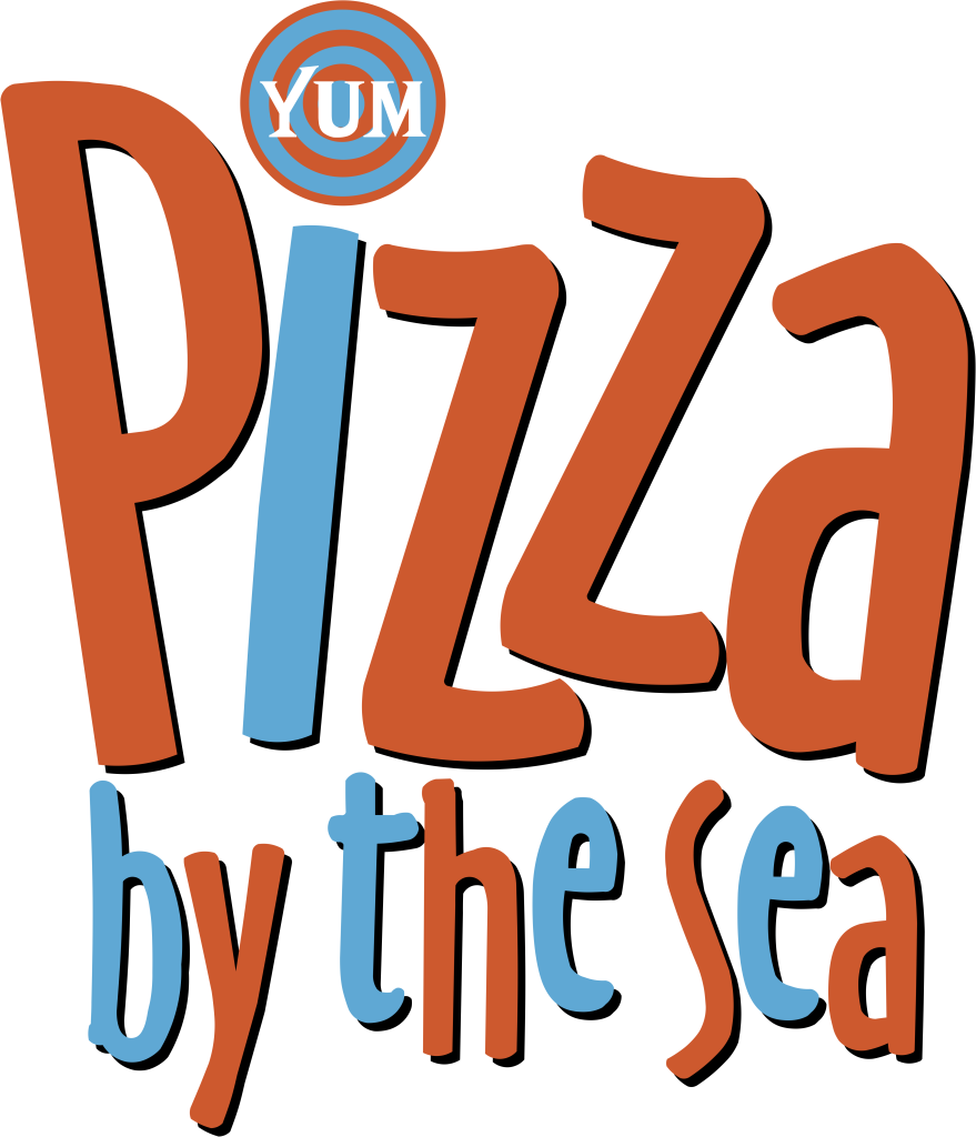 Pizza by the Sea Logo with YUM Vector