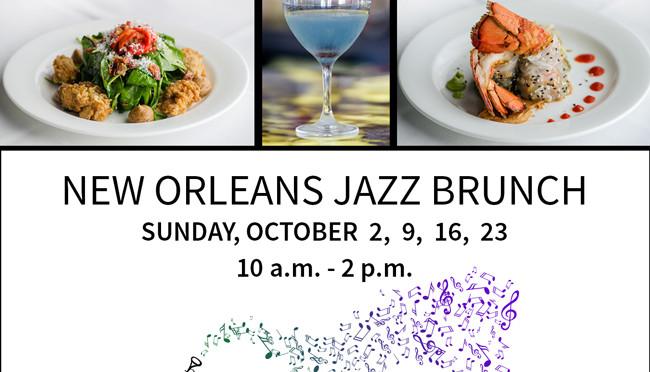 Bijoux announces New Orleans Jazz Brunch for Sundays in October
