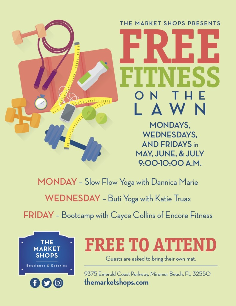 Fitness On the Lawn Flyer 2018