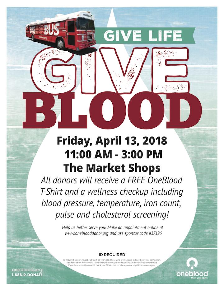 The Market Shops_Blood Drive
