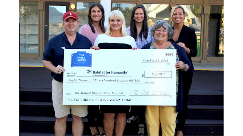 Bottom row from L to R: Greg Valloch, Ben & Jerry's; Teresa Imdieke, Habitat for Humanity; Denise Song, Habitat for Humanity.  Back row from L to R: Jessica Bracken, Proffitt PR; Taylor Sheekley, Proffitt PR; and Caroline Boone, Proffitt PR