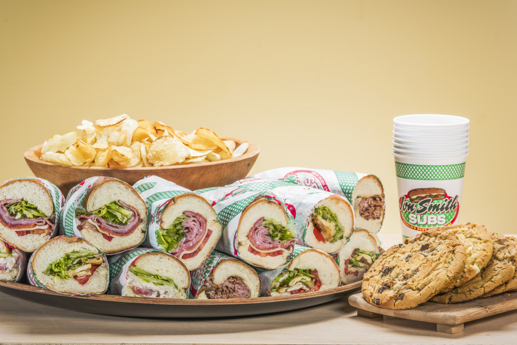 An assortment of sub sandwiches in this catering platter captured for United Franchise Group in West Palm Beach, Florida.  Photography by Jeffrey A McDonald