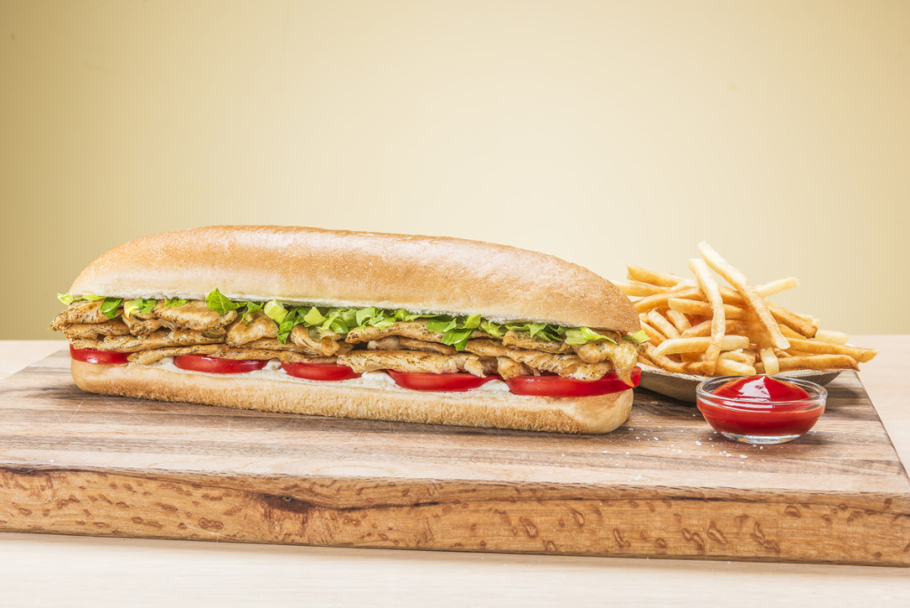 A juicy Chicken Sub captured for United Franchise Group in West Palm Beach, Florida.  Photography by Jeffrey A McDonald