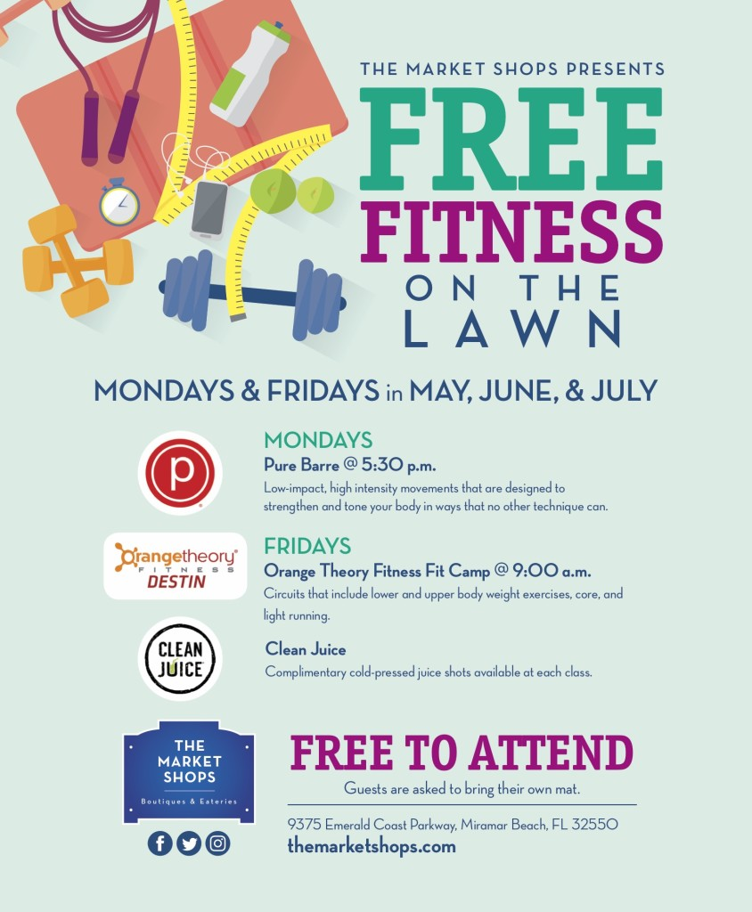The Market Shops Announces Free Fitness on the Lawn - The